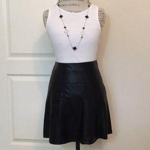 Ann Taylor faux leather A line skirt
